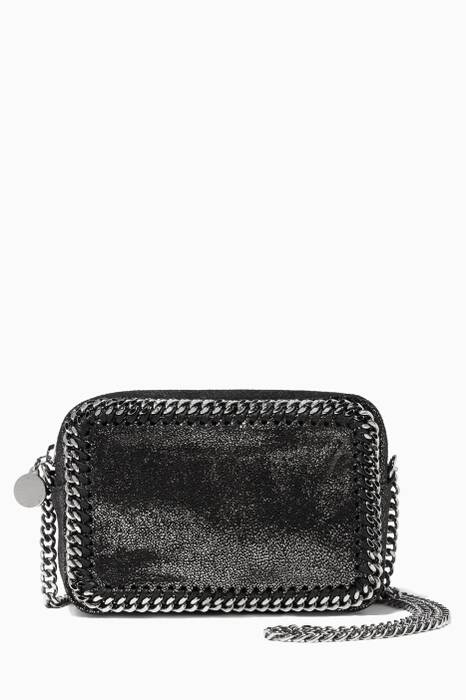 Black Falabella Shaggy Deer Mini Crossbody Bag