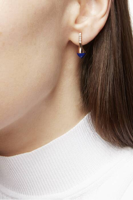 Rose-Gold Cleo Lapis Lazuli Earrings