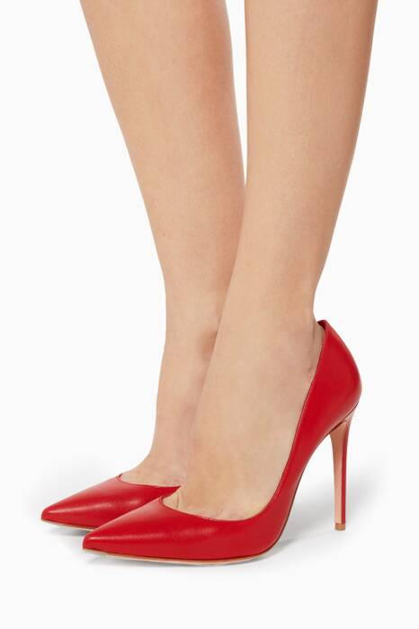 Red Classic Leather Pumps