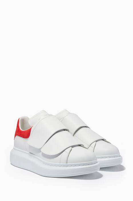 White and Red Classic Larry Oversized Sneakers