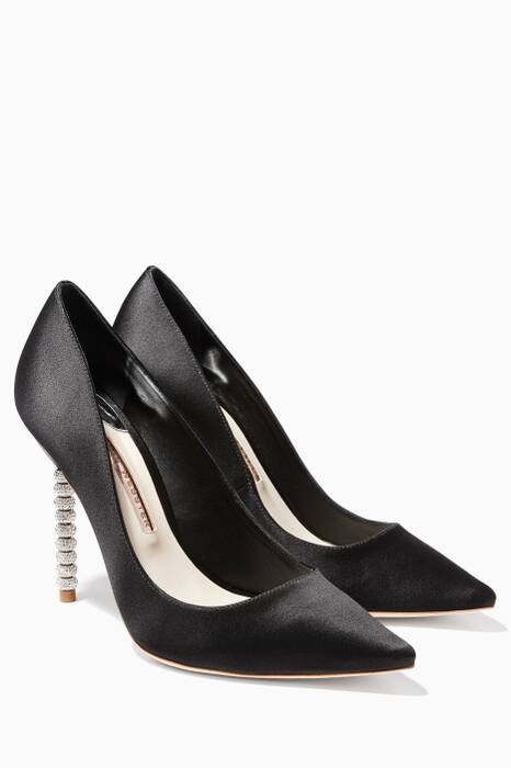 Coco Crystal-Embellished Black Pumps