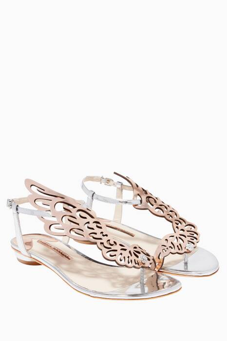 Metallic Seraphina Flat Sandals
