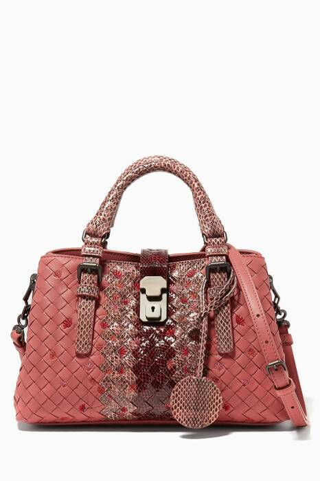 Dusty Rose Mini Exotic Leather Tote Bag