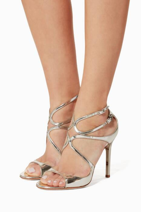 Silver Lang Mirrored Leather Sandal