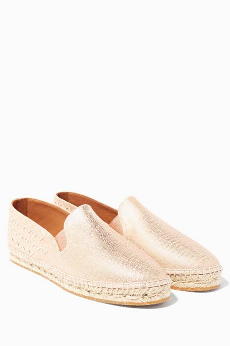 Light Gold Canvas Espadrilles
