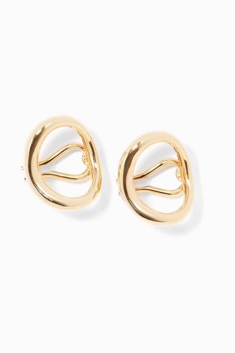 Gold Naho Clip Earrings