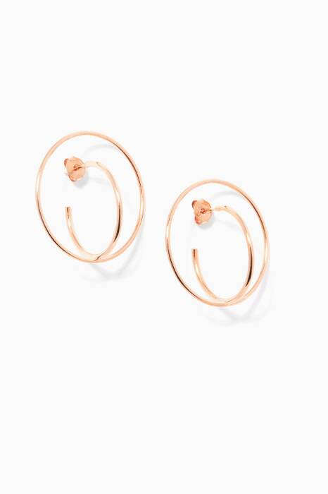 Rose-Gold Medium Saturn Earrings
