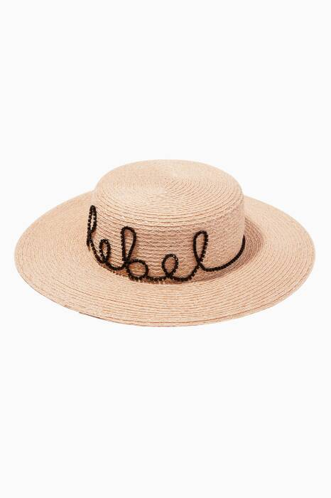 Natural Colette Rebel Boater Hat