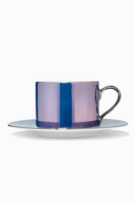 Polka Pastel Tea Cup And Saucer set of four