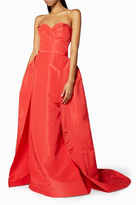 Orange Draped Gown