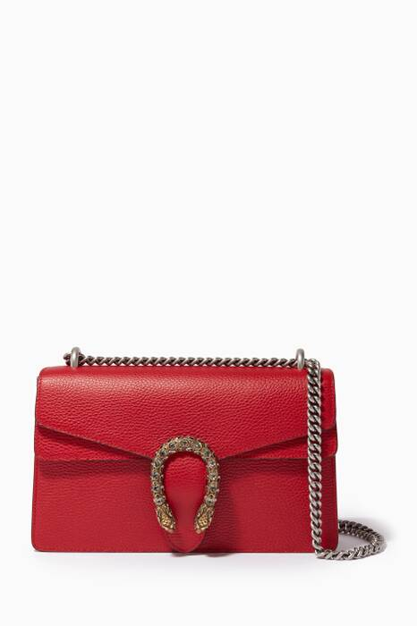 Red Dionysus Leather Shoulder Bag