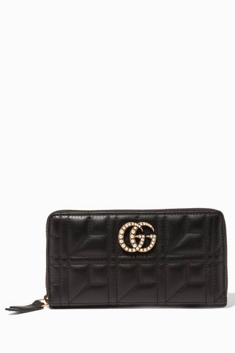 Black GG Marmont Wallet