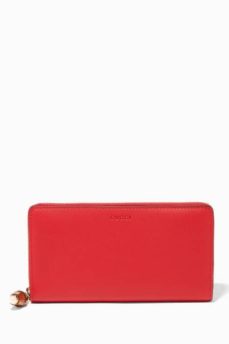 Hibiscus Red Nymphaea Zip Around Wallet