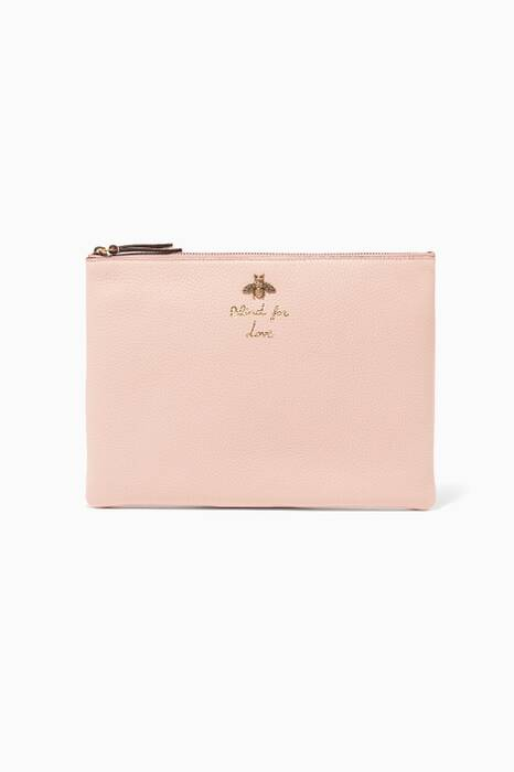 Light-Pink Blind for Love Leather Pouch