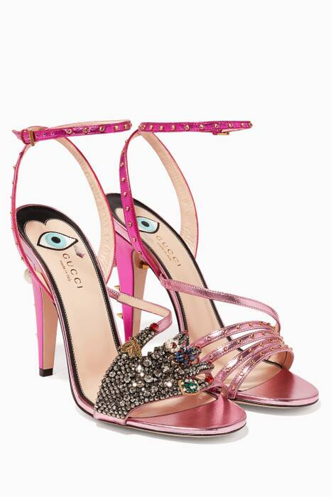 Pink Embellished Sandals