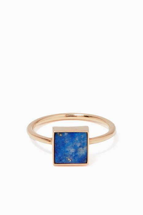 Rose-Gold & Lapis Ever Square Ring