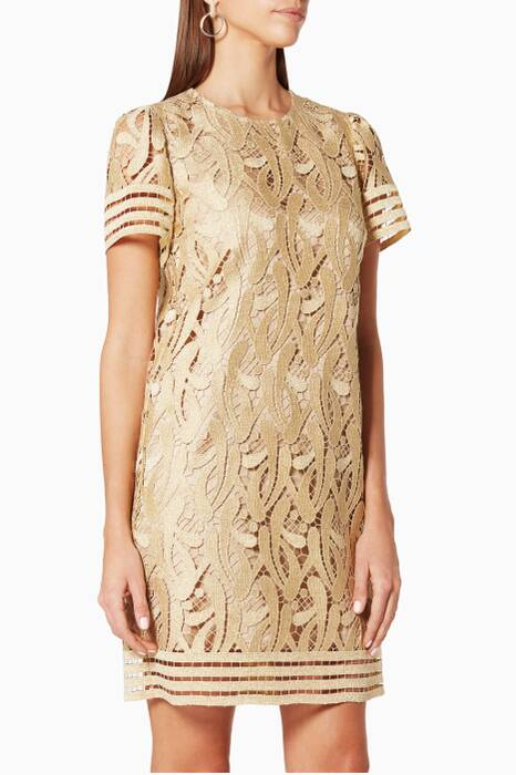 Gold Lace Dress