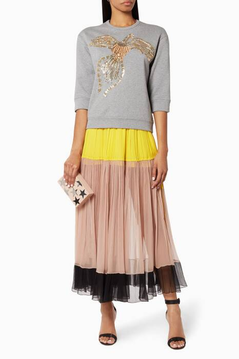 Multi-coloured Layered Skirt