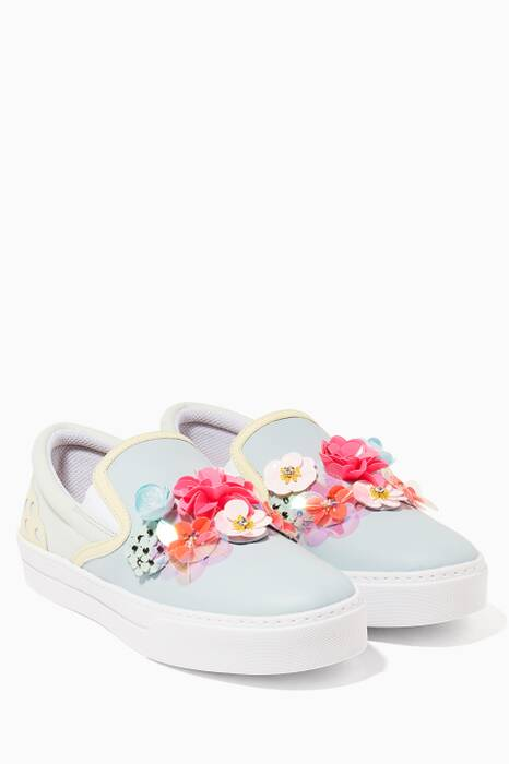 Light-Blue Lilico Sequin Adele Sneakers
