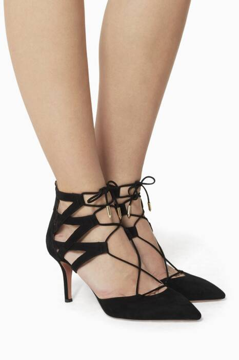 Black Belgravia Suede Pumps