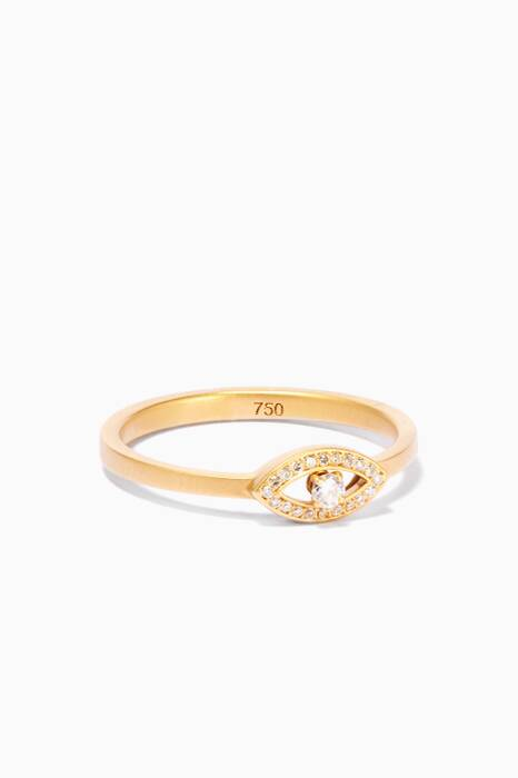 Shop Luxury By Design Yellow Gold & Diamond Circle Ring