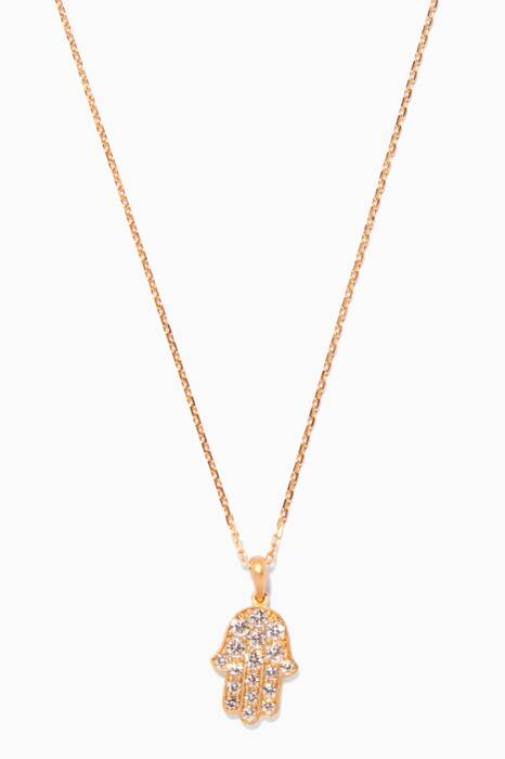 Yellow-Gold & Diamonds Hand Necklace