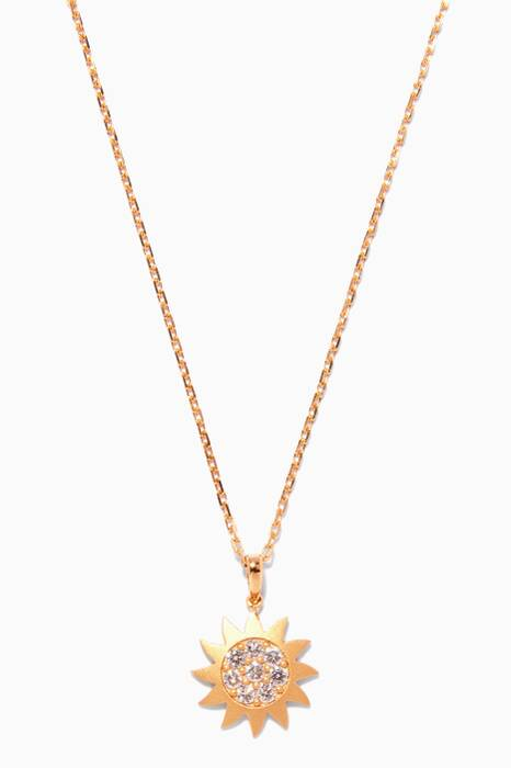 Gold Diamond Star Necklace