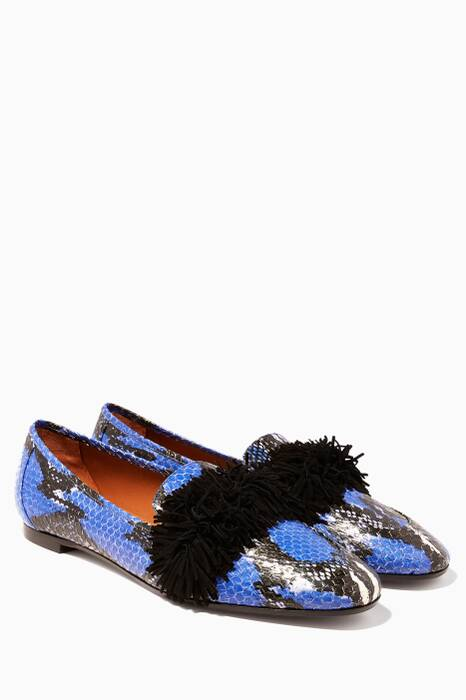 Blue Wild Loafer Flats