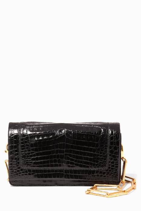 Black Chain-Strap Cross-Body Bag