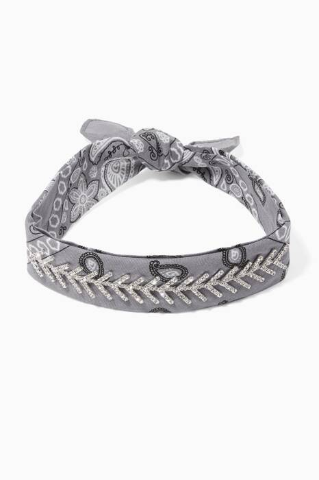 Grey Silk Monarch Choker