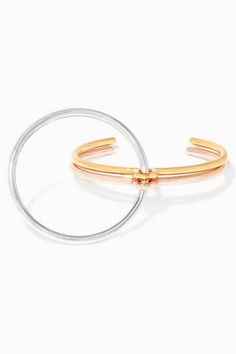 Yellow-Gold & Silver Three Lovers Bracelet