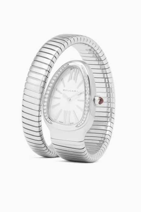 Stainless Steel & Diamond Serpenti Tubogas Watch