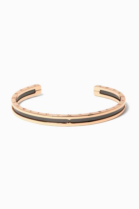 Rose-Gold & Black Ceramic B.zero1 Cuff Bracelet