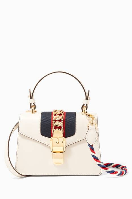 Off-white Red Mini Sylvie Top Handle Bag