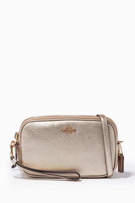 Gold Cross-Body Clutch