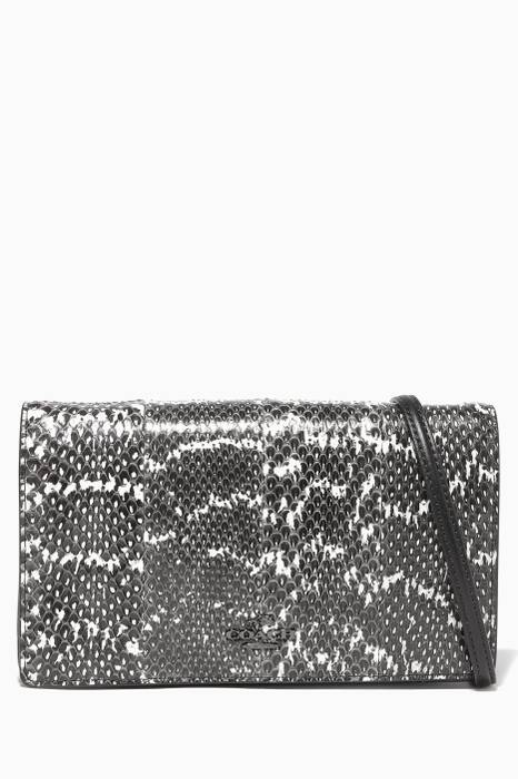 Black Fold-Over Cross-Body Clutch