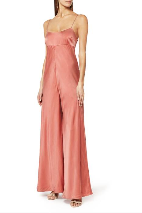 Rose Winsome Bias Jumpsuit