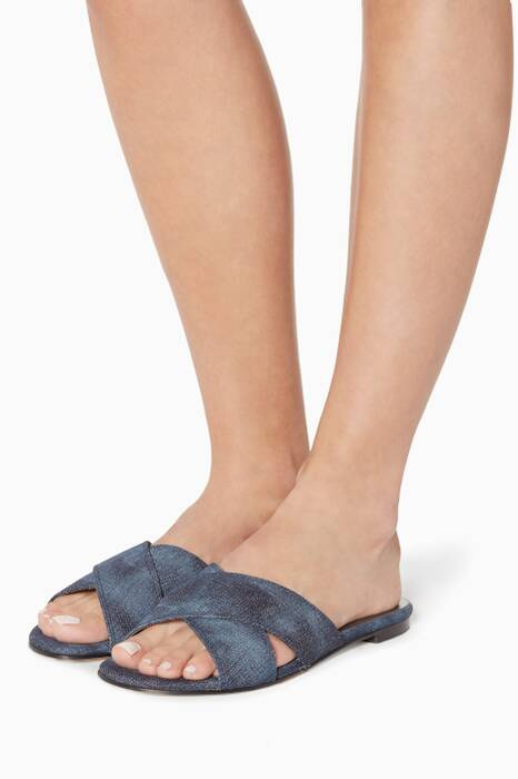 Navy Byway Happy Denim Sandals