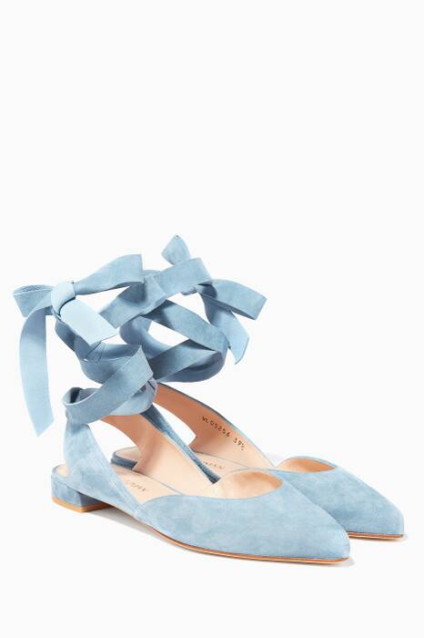 Light Blue Supersonic Suede Sandals