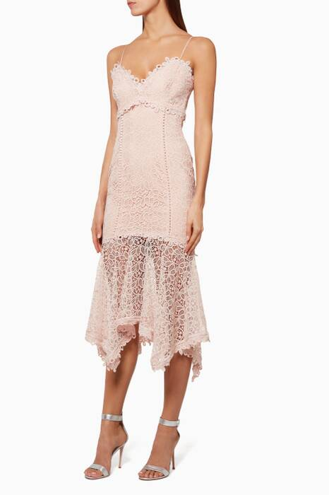 Blush Lace Cocktail Dress