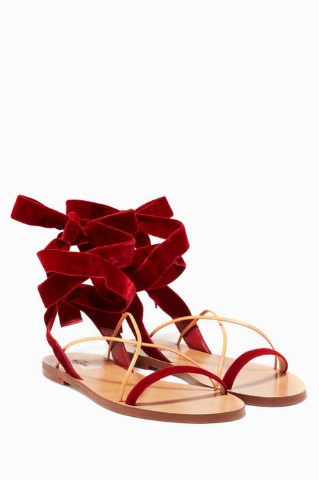 Rubin Velvet Leather Sandals