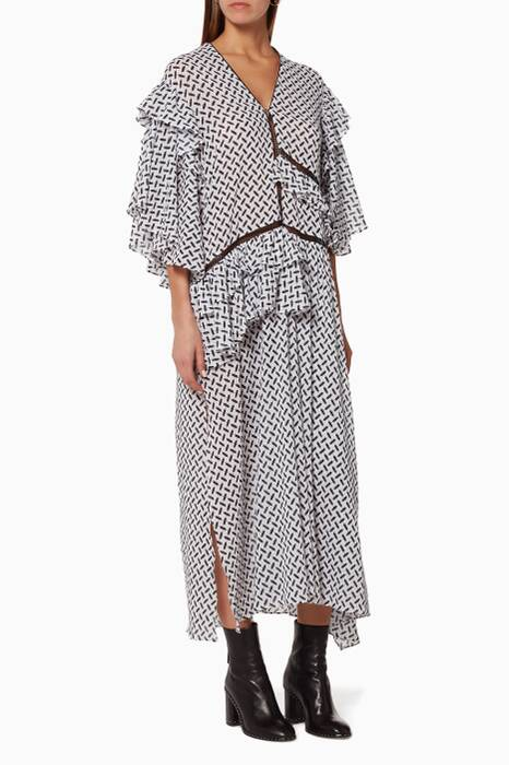 Printed Monika Kaftan Dress