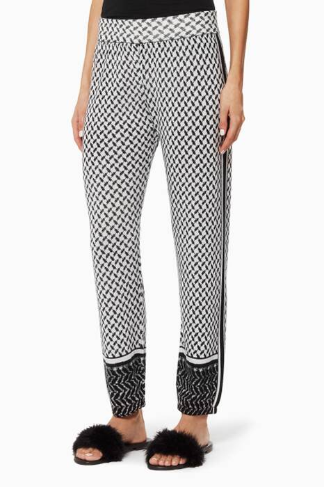 Patterned Rumi Cashmere Pants