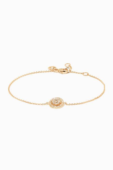 Yellow-Gold Diamond Flower Bracelet