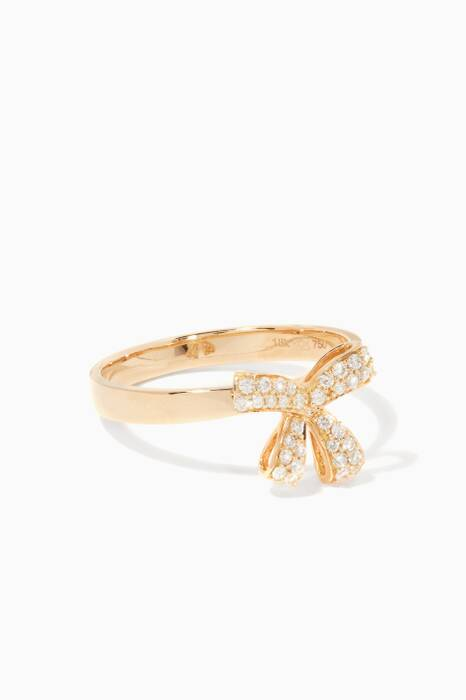 Yellow-Gold Diamond Romance Ring