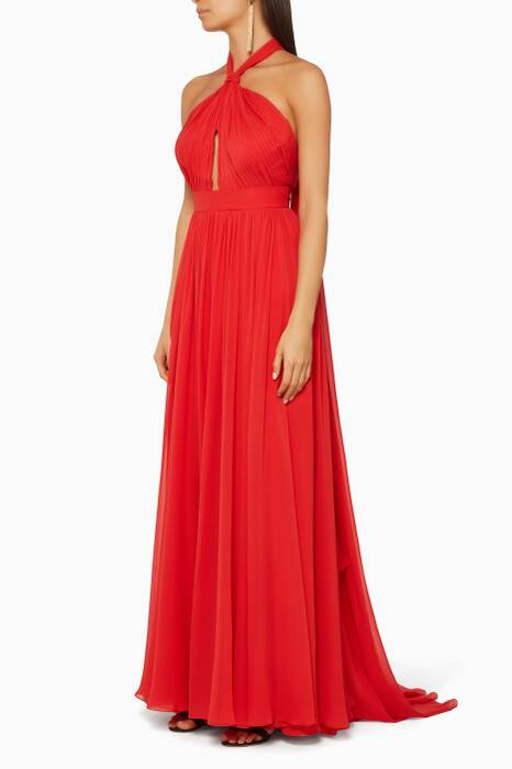 Red Halterneck Gown