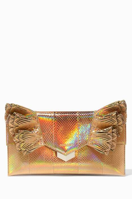 Gold Isabella Holographic Evening Clutch