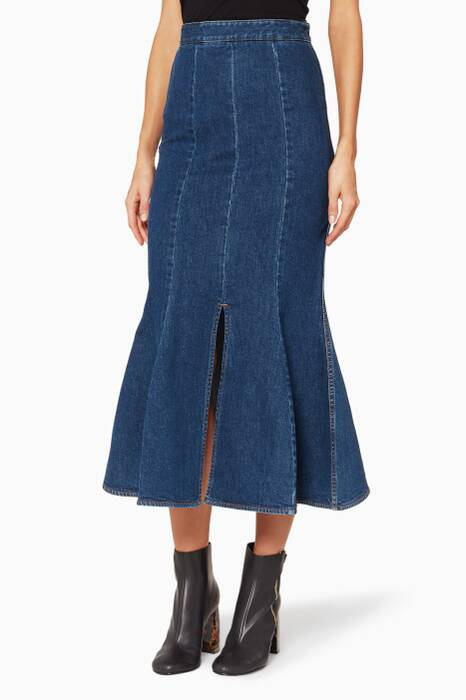 Blue Ivy Denim Midi Skirt