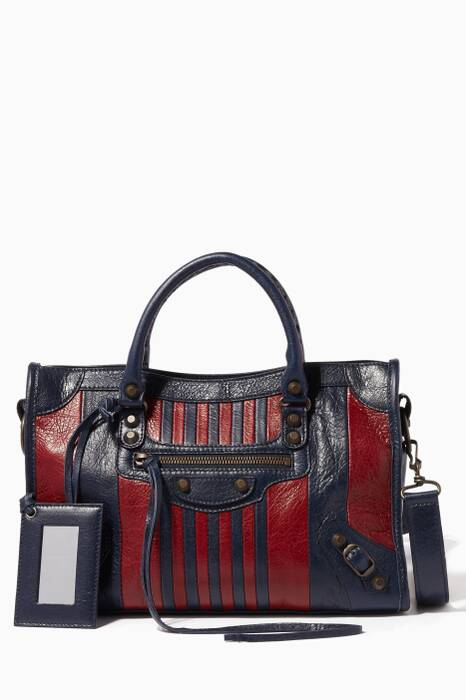 Navy & Burgundy Small Classic Arena City Bag