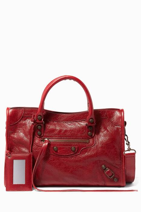 Red Small Classic City Tote Bag